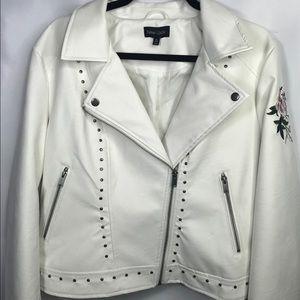 Rose Leather Moto Jacket, New Look (Luxury Brand)